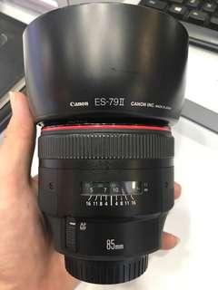 Canon 85mm F1.2 EF L II Lens
