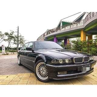 車保證在店 1998年 BMW735 頂級 天窗 導車顯影 電動椅 多功能方向盤 可履約保證無重大事故泡水非營業用車
