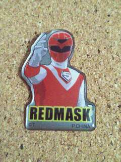 Red mask sentai maskman pin badge