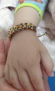 編織五色線手環
