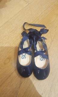 Girls shoes flat ballet n laced ballet