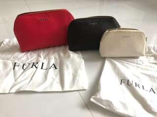 Furla 3 in 1 pouches - genuine leather