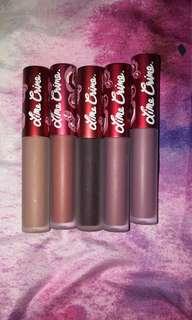 Lime crime matte lipsticks
