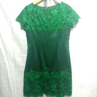 Satin Green dress
