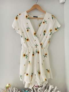 Sunflower Creme White Playsuit Size 10