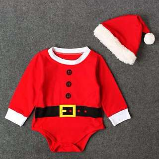 Baby Romper Christmas Costume with Boots