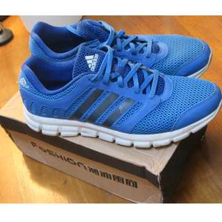 ADIDAS 藍色慢跑鞋