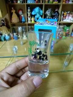 香港帶回 貓熊酒杯