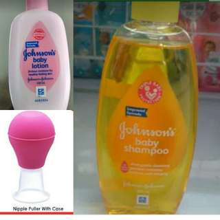 Shampoo, lotion and nipple puller start 10.000