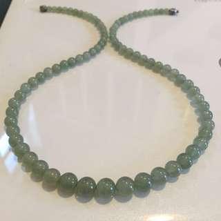 翡翠玉頸鍊 Jade necklace 81粒