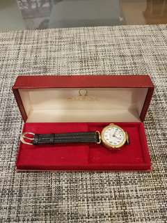 omega authentic Watch Box red vintage box