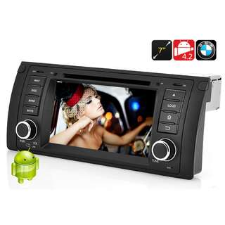 BMW E39 X5 ANDROID DVD PLAYER MIRROR LINK
