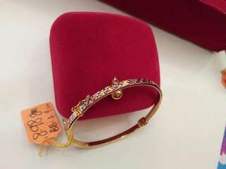 Bangle for Babies - 916 Authentic Gold