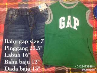 Baby gap set jeans and singlet