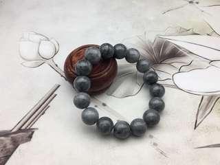 天然翡翠糯種烏雞黑珠手串