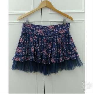專櫃 P.Scompany 日系下擺蕾絲網雕花邊褲裙