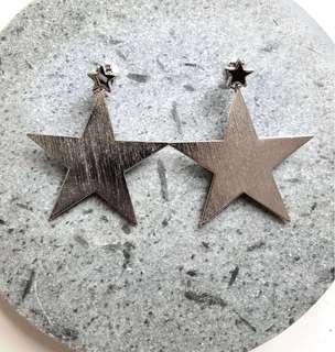 全新Champrings 全手工制雙子星耳環 (NEW Champrings Gemini Star Silver Handmade Earrings)