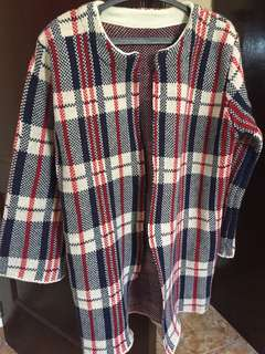 long knitted jacket (burberry inspired)