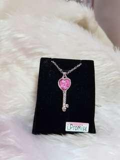 Swarovski elements crystal key necklace