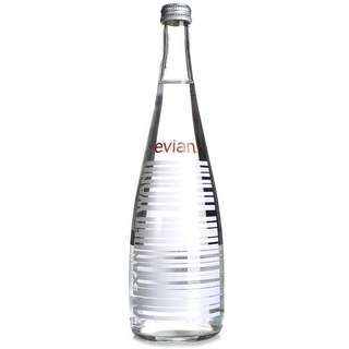 法國進口 依雲 Evian ALEXANDER WANG 限量瓶 白色 750ml