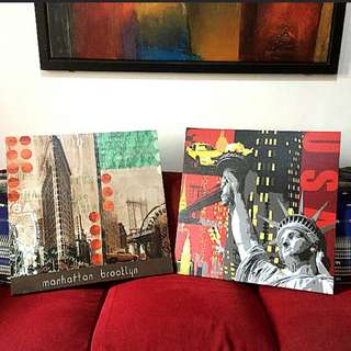 Acrylic Paintings of New York View