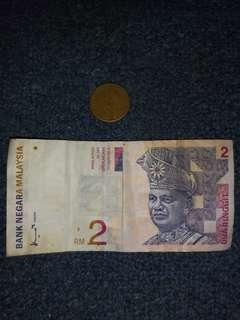 Duit Lama RM2 & Syiling Rm1