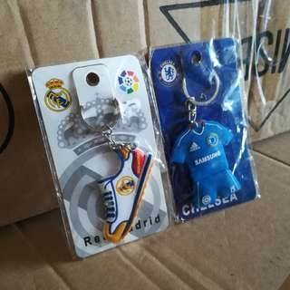 Football Keychain Real Madrid Chelsea