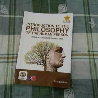 ❇INTRODUCTION TO THE PHILOSOPHY OF THE HUMAN PERSON K12 BOOK❇