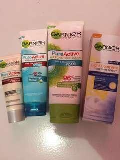 Acne care cream & scrub, Matcha foam, Yoghurt sleping mask, BB cream (Take all)