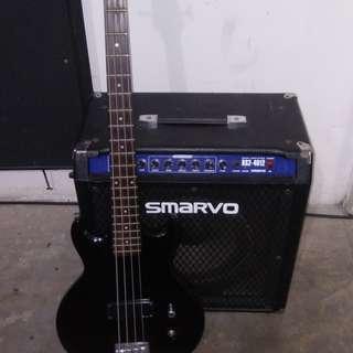 Bass guitar + Bass amplifier
