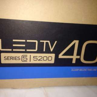 "40"" SERIES 5000 SAMSUNG SMART LED TV"