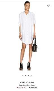FROM 4900 to 3000! ACNE STUDIOS Lash Button Down Dress