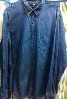 Uniqlo 藍色襯衫(二手