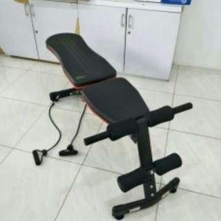 adjustable bench press papam sit up 3 gerakan