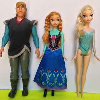 Frozen Ana, Kristoff and Elsa Set