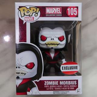 Funko Pop Spider-Man Zombie Morbius (Marvel Collector Corps Exclusive) Rare Chase Figure