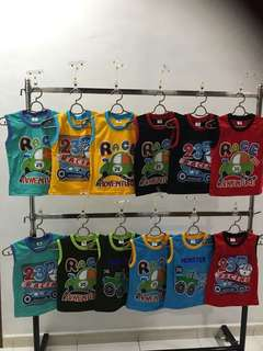 Sleeveless colourful shirt for toddlers
