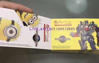 USS PHYSICAL TICKET- OPEN DATE & THE CHEAPEST IN CAROUSELL!!