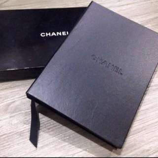 Chanel leather notebook