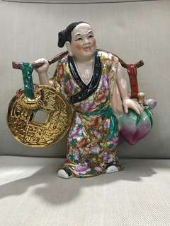 China antique stone hand painted