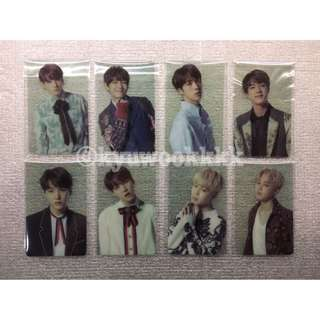 BTS Wings Seoul Tour ARMY Membership Transparent Photocards