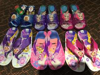 Instock new arrrival .. 3days only !! Pm me fast!! Frozen/princess heels w Lights  (TOP ) -$18.90 and slippers no lights  (bottom ) -$16.90 brand new