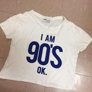 Zara短板上衣T恤