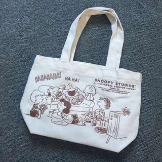 SNOOPY 史努比 帆布風 便當包 便當袋 手提包 手拎袋