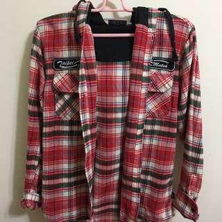 格紋襯衫外套