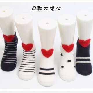 全新現貨 春夏新款棉質淺口立體親子短襪(5入/組)A款