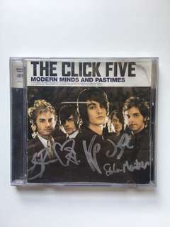 "[EVERYTHING MUST GO SALE!] Autographed CD: The Click Five ""Modern Minds and Pastimes"""