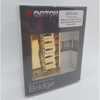Gotoh GTC102 Guitar Bridge - Gold