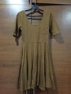 Forever 21 brown skater dress