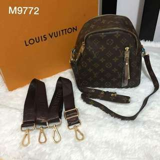 LV Sling and backpack
